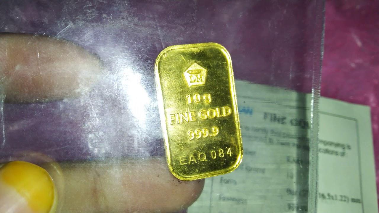 Emas Antam 10 Gram Beli Di Toko Emas Semar Yogyakarta Youtube