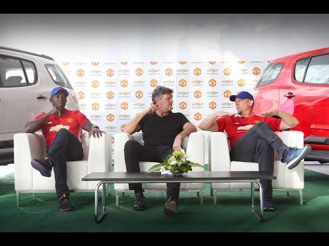 Dwight Yorke & Peter Schmeichel visit Chevrolet Al Ghandi Auto