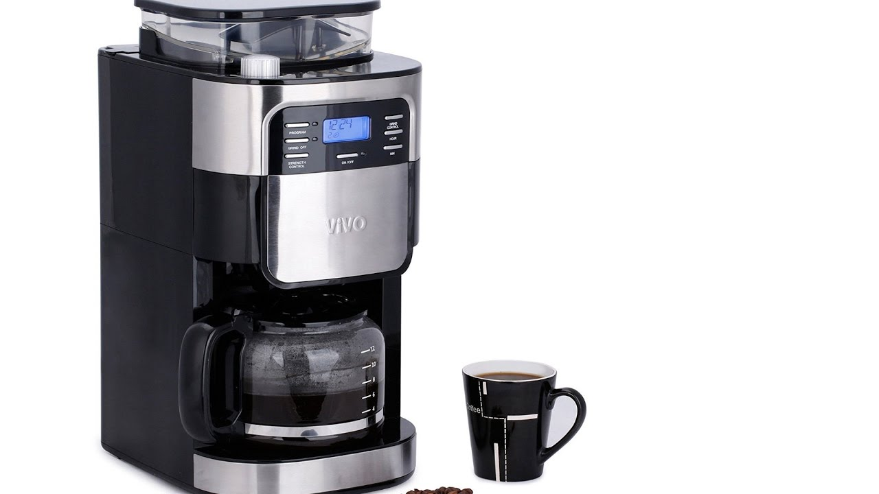 Review Vivo 15l Bean To Cup Digital Stainless Steel Filter Coffee Maker Machine