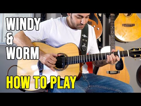 Windy And Warm - Fingerstyle Acoustic Guitar Lesson By Pierangelo Mugavero