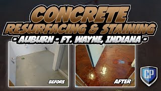 Concrete Resurfacing & Staining - Auburn - Ft Wayne Indiana