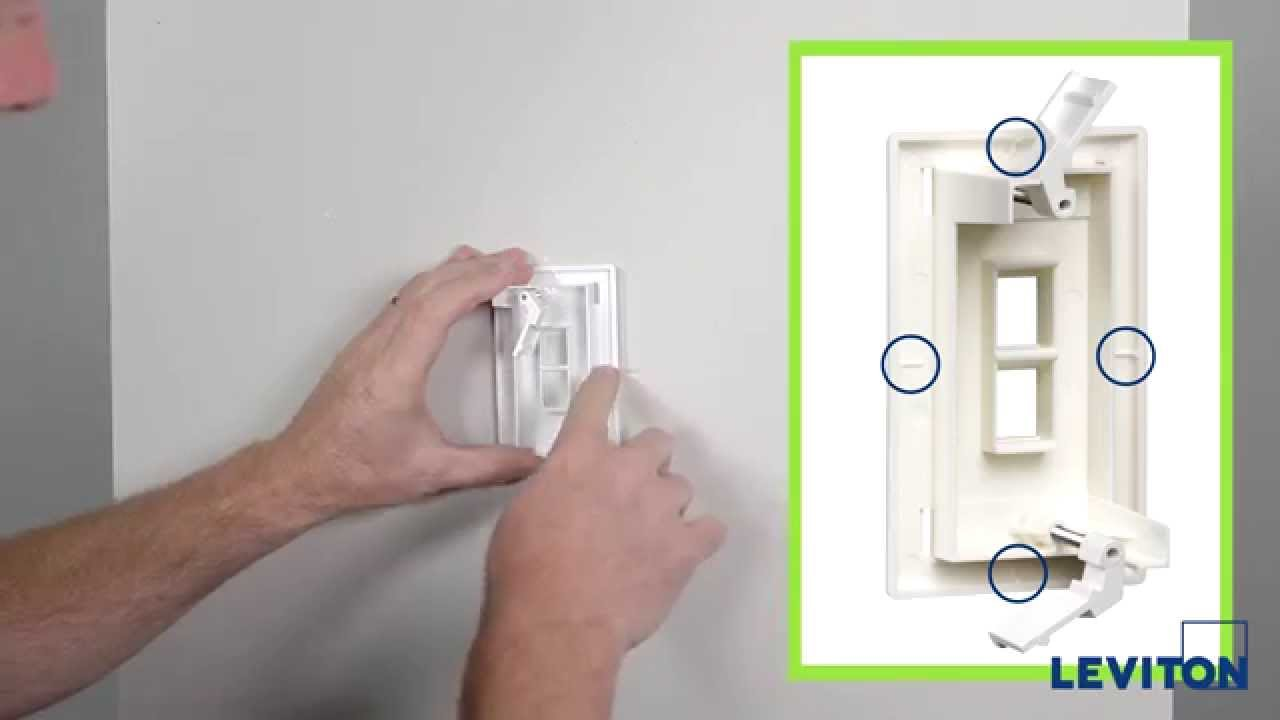 Leviton Presents: How to Install a QuickPlate Tempo Wallplate - YouTube