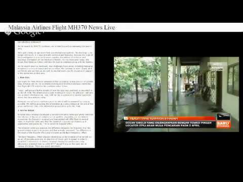 Malaysia Airlines Flight MH370 News Live (25/3/2014)