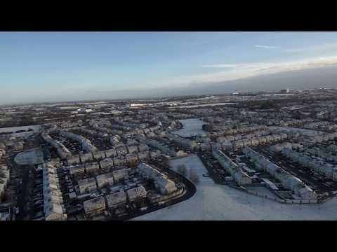 Drone Flight Snowy Dublin 06.02.18