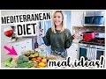 MEDITERRANEAN DIET WHAT I EAT IN A DAY! 🥒🍷🍕HEALTHY LIFESTYLE + WEIGHT LOSS MEAL IDEAS | Brianna K Mp3