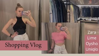 Shopping Vlog Летняя распродажа Хожу по магазинам Zara Lime Oyshe Uniqlo