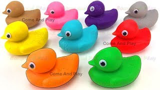 Learn Colors with Play Doh Ducks and Cups Surprise Toys