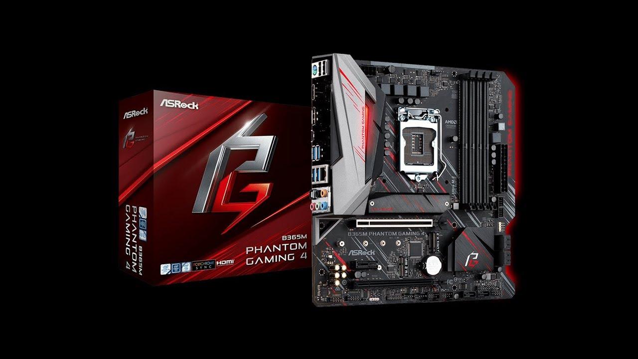 ASRock B365M Phantom Gaming 4 - YouTube