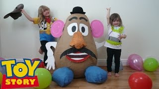 disney toy story videos super giant surprise egg worlds biggest mr potato head woody buzz lightyear