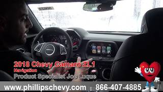 Phillips Chevrolet - 2018 Chevy Camaro ZL1 - Navigation - Chicago New Car Dealership