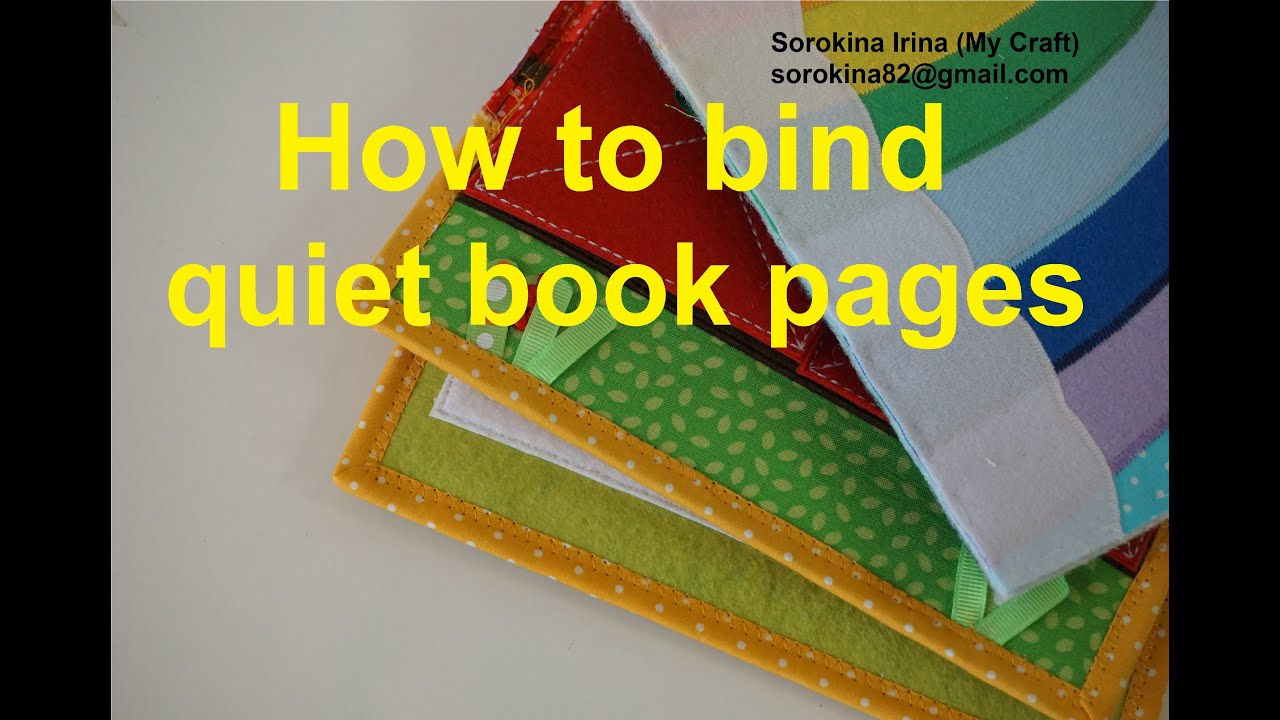 Quiet Book Cover Page Ideas : How to bind quiet book pages youtube