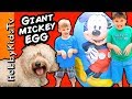 Worlds BIGGEST MICKEY MOUSE Surprise Egg! HobbyDog + Hulkbuster Marvel, Avengers Disney HobbyKidsTV