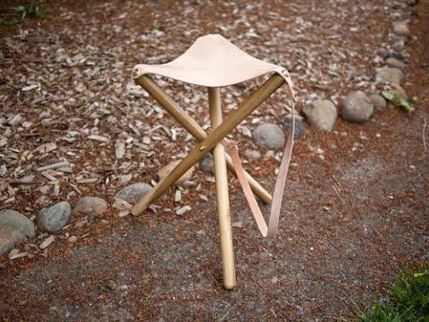 Klapphocker selber bauen  Stuhl selber bauen. Diy stuhl. Diy Klappstuhl. - YouTube