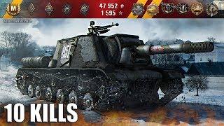 ИСУ-152  МАСТЕР 🌟 10 фрагов за 6 минут 🌟 World of Tanks лучший бой на пт-сау ИСУ-152