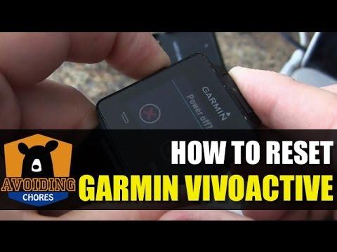 Garmin Vivoactive - How to Reset or Restore Defaults