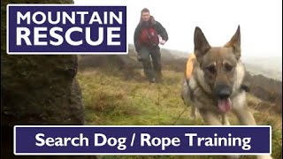 Kinder Mountain Rescue Team Search Dogs Exercise 26.2.12