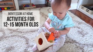 MONTESSORI AT HOME: Activities for Babies 12-15 Months
