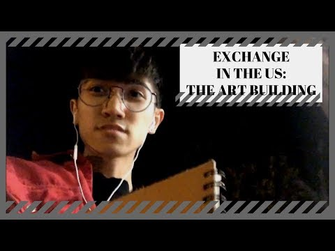 [Dandee X 美國Exchange Vlog] Introduce the Art Building and My Work