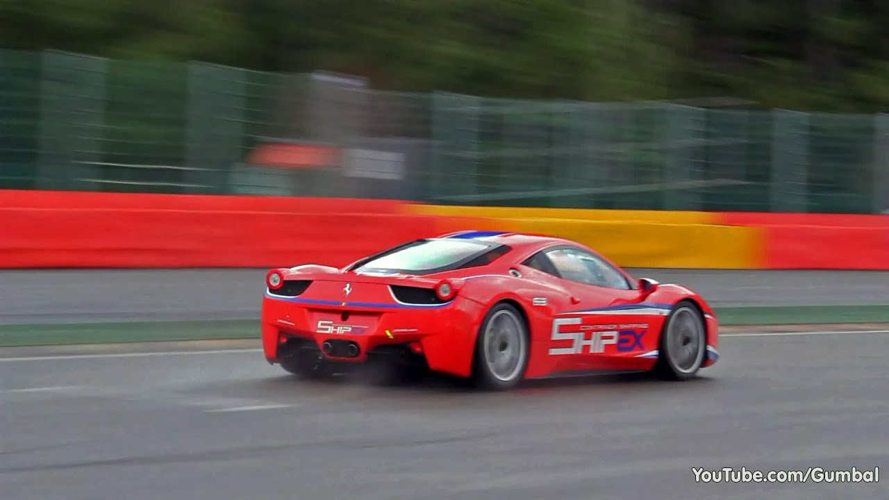 Ferrari 458 Challenge , RACING Sounds on the Track!!
