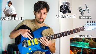 Instruments imitations on guitar: Star Wars music and sounds