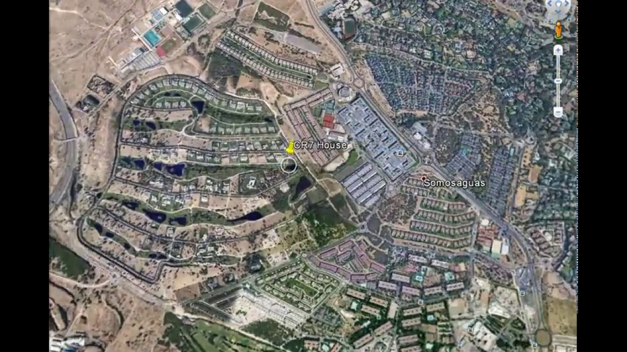 Cristiano Ronaldo House On Google Map YouTube - Google maps aerial