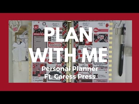 PERSONAL PLANNER // Plan With Me & Quick Set Up // Caress Press Egg Nog!