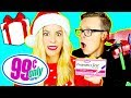 99 Cent Store Challenge! (10 Dollar Holiday Gift Exchange- pregnancy test, candy, weird toys,))