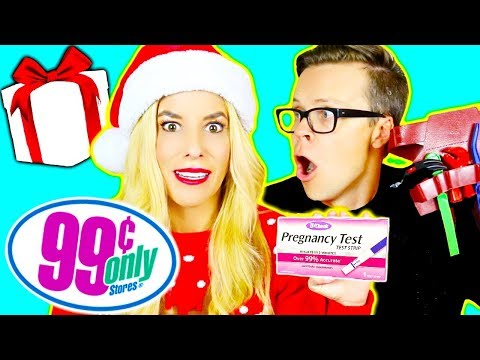 99-cent-store-challenge!-(10-dollar-holiday-gift-exchange--pregnancy-test,-candy,-weird-toys,))