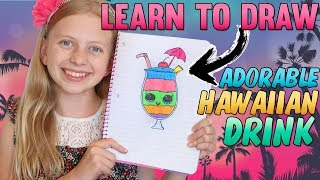 Cute Rainbow Hawaiian Drink || Art with Alyssa