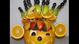 как сделать обезьяну из фруктов