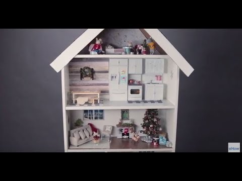 Turn A Bookshelf Into Dollhouse