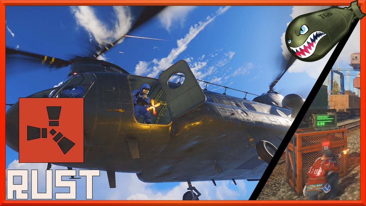 Rust | CH47- Chinook Heli Event, Locked Loot Crates, How to Take it Down!  (Rust News & Updates)
