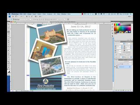 Create HTML Email Part 3-Slicing For The Web In Photoshop