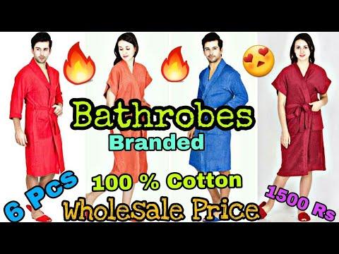 Wholesale वाला दम Bathrobes For Gents & Ladies // 100% Guarantee // 100 % Cotton // Bathrobes