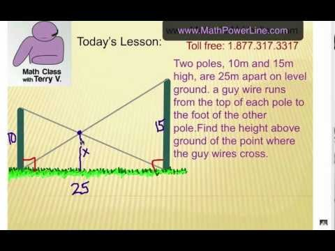 Right Triangle Challenge: Poles and Guy Wires - YouTube