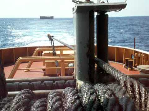 """NJ REMOLCAMAR FISTERRA"" towing winch,in towing operations.GO AHEAD!"