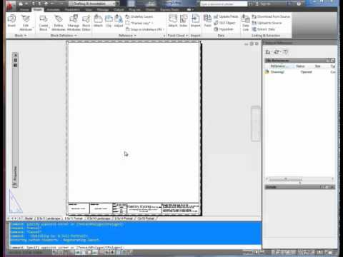 how to make title block in autocad