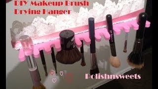 Diy Makeup Brush Drying Hanger