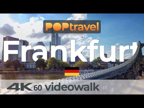 Walking In FRANKFURT / Germany 🇩🇪- Old Town, Banking District, Bahnhofsviertel - 4K 60fps (UHD)