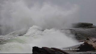 King Tide Storm Surge Waves Sechelt Sunshine Coast BC 2014