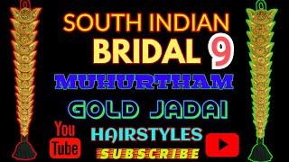 South indian bridal Muhurtham Look Gold jadai  PART 9