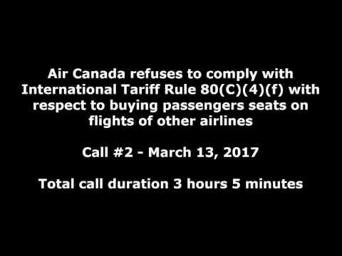 Air Canada refuses to reprotect passengers on WestJet, contrary to Int'l Tariff Rule 80(C)(4)(f)