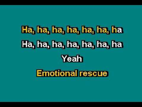 THE ROLLING STONES   EMOTIONAL RESCUE KARAOKE