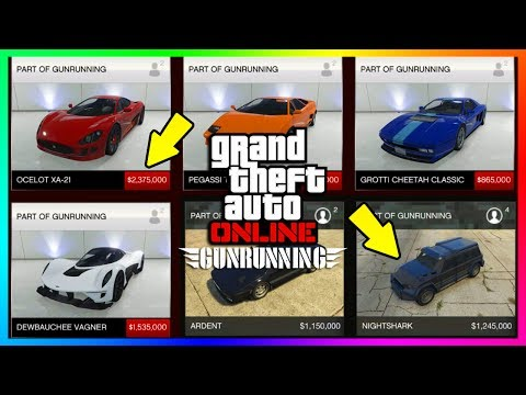 GTA ONLINE GUNRUNNING DLC NEW UNRELEASED VEHICLES INFO - CONFIRMED PRICES, RELEASE & MORE! (GTA 5)