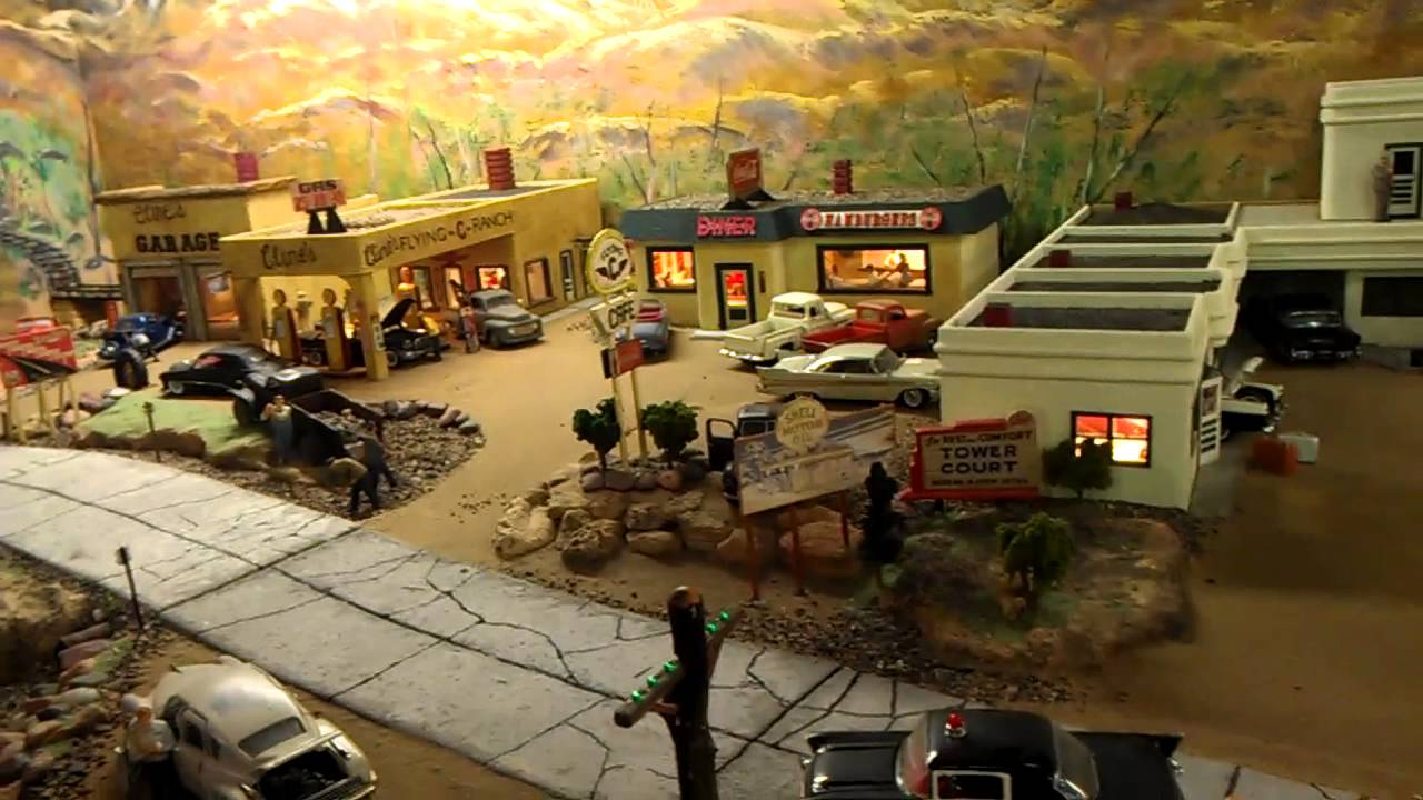 Route 66 diorama youtube for Garage route 66 metz