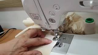 홈패션 주름노루발로 원단 주름잡기 *왕초보재봉틀배우기