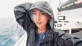 A Race in the Rain to pick up our Lucky Patrons (Sailing La Vagabonde) Ep. 108