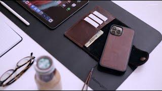Geometric Goods Leather Folio Wallet Case w/MagSafe