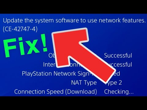 PS4 Update The System Software To Use Network Features (CE-42747-4) FIX!