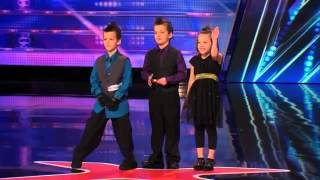 Dom the Bom's Triple Threat  8 Year Old Triplets' Hot Card Throwing Act   America's Got Talent 2014
